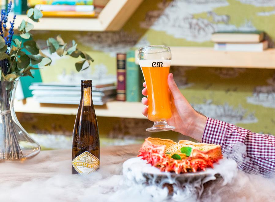 Maridaje Casimiro Mahou Cerveza Trigo  - mariscos, huevos Poché o  foie a la plancha