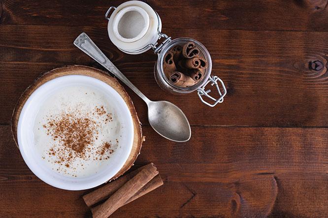 Alhambra Baltic Porter y arroz con leche a la asturiana, regusto dulce