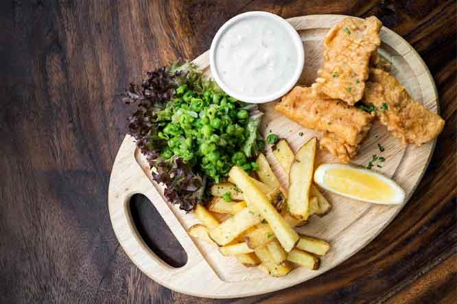 San Miguel 1516 y Fish and Chips, maridaje clásico londinense